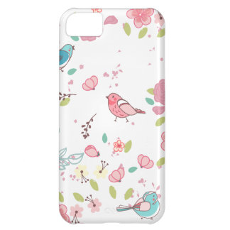 Little Birdie Pink and Blue Whimsical Girly iPhone 5C Cases