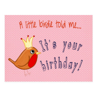 Little Birdie Told Me Postcard
