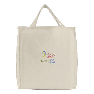 Little Birds and Balloons Embroidered Bags