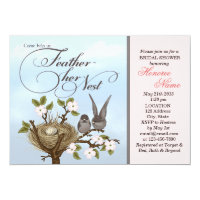 Little Birds Feather Her Nest Shower Invitation