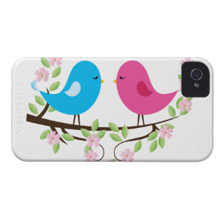 Little Birds on Floral Branch iPhone 4 Case