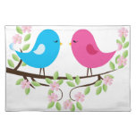 Little Birds on Floral Branch Placemat