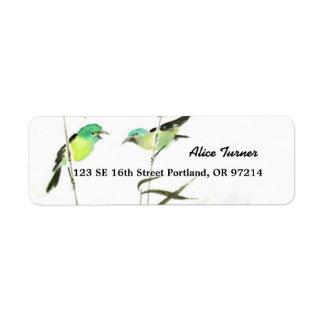 Little Birds Return Address Label