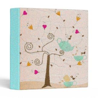 Little Birds Tea Party binder