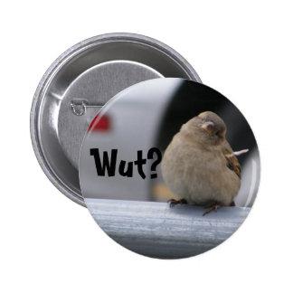 """Little Birdy Button: """"Wut?"""" Button"""