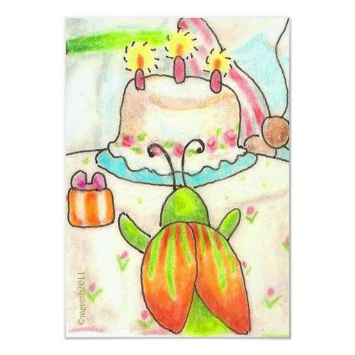 little birthday beetle invitation