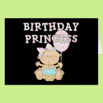 Little Birthday Princess Tshirts and Gifts Card