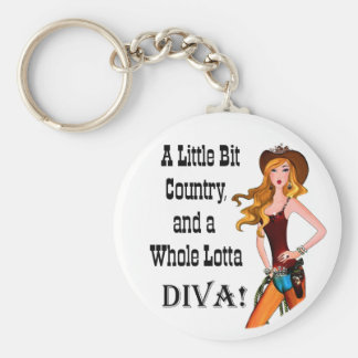 Little Bit Country and a Whole Lotta DIVA! Keychain