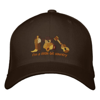 Little Bit Country Embroidered Baseball Cap