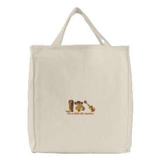 Little Bit Country Embroidered Tote Bag