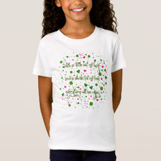 Little Bit of Irish Luck-Girls Baby Doll Shirt