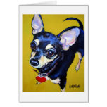 Little Bitty Chihuahua - Black and Tan Chihuahua Card