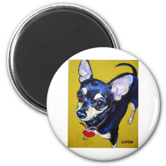 Little Bitty Chihuahua - Black and Tan Chihuahua Magnet