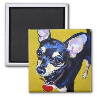 Little Bitty Chihuahua - Black and Tan Chihuahua Fridge Magnet