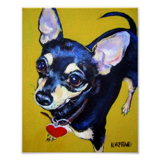 Little Bitty Chihuahua - Black and Tan Chihuahua Poster