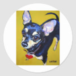 Little Bitty Chihuahua - Black and Tan Chihuahua Sticker