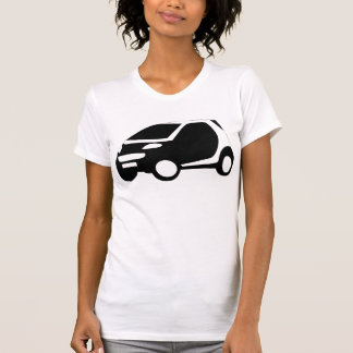 Little Black and White Car T Shirt