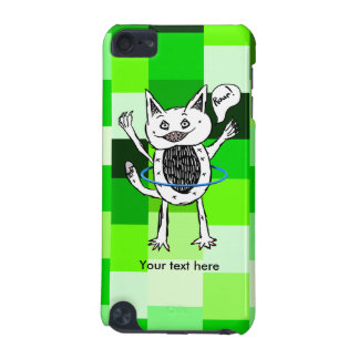 Little Black And White Monster Illustration iPod Touch (5th Generation) Cover