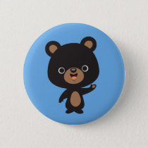 Little Black Bear Pinback Button