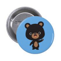 Little Black Bear Pinback Button