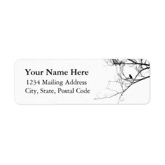 Little Black Bird Address Label