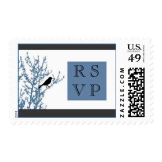 Little Black Bird RSVP Stamp