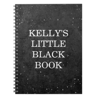 Little Black Book Chalkboard Style - Personalize Notebook