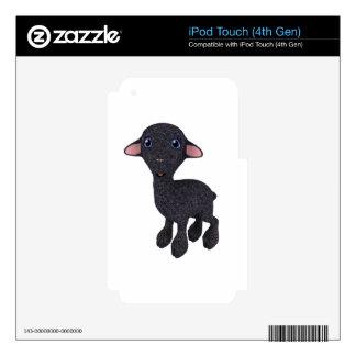 Little Black Cartoon Lamb iPod Touch 4G Decal
