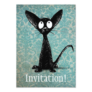 Little Black Cat Card