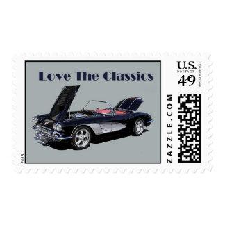 Little Black Corvette Postage