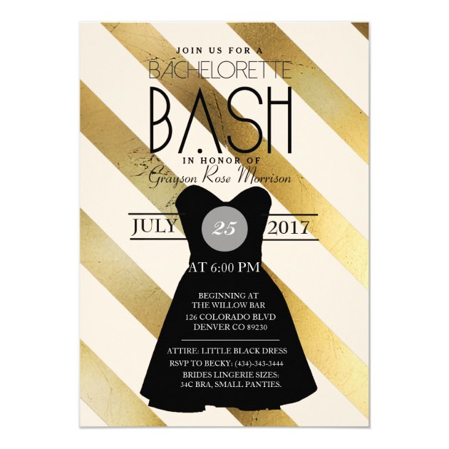 Bachelorette Party Invitations – Little Black Dress Bachelorette Party Invitations
