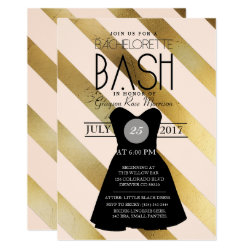 Little Black Dress Bachelorette Bash | Party Invitation