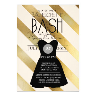 Little Black Dress Bachelorette Bash | Party Invitation