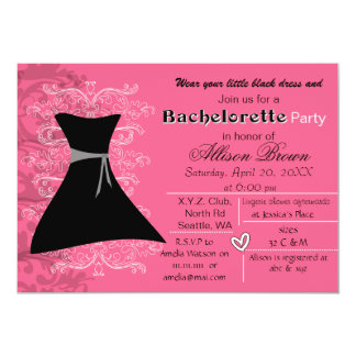 Little black dress bachelorette party invite