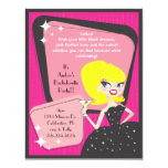 Little Black Dress_Blonde Bombshell 4.25x5.5 Paper Invitation Card