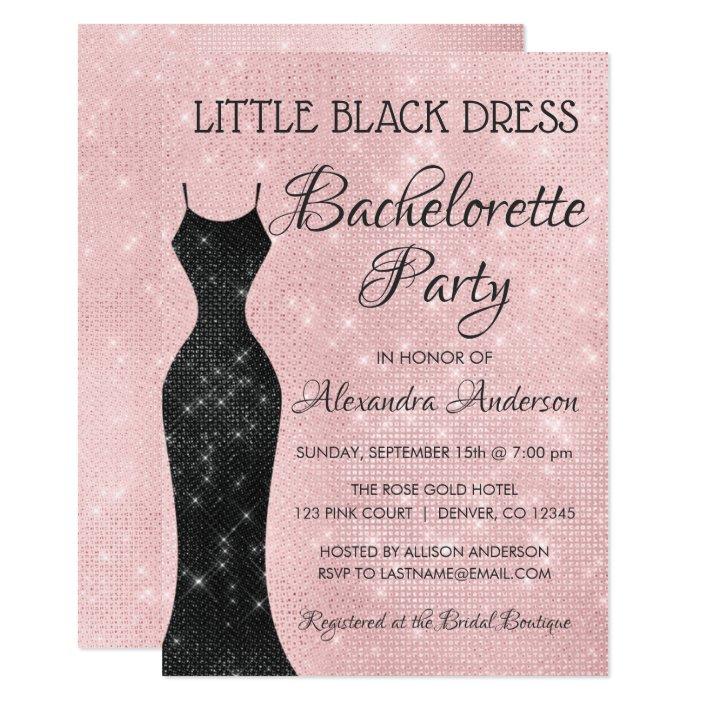 Little Black Dress Blush Pink