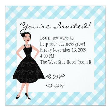 Professional Business little black dress card