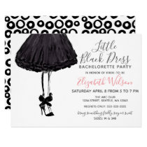 Little Black Dress High Heels Bachelorette Party Card
