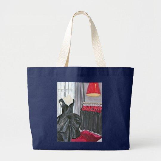 """""""Little Black Dress"""" Large Tote Bag"""
