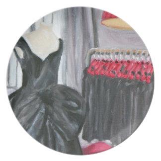 """""""Little Black Dress Paris Plate"""""""