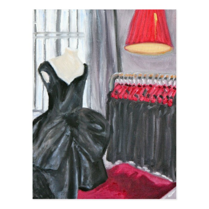 """Little Black Dress"" Postcard"