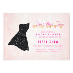 Little Black Dress Shower Invitation