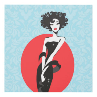 Little Black Dress Stunner 12x12, Fashion Wall Art