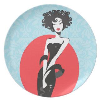 Little Black Dress Stunner Melamine Plate