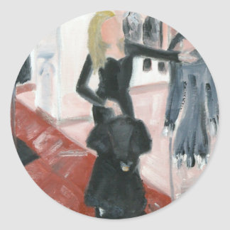 """Little Black Dresses"" Classic Round Sticker"