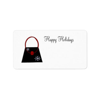 Little Black Handbag - Happy Holidays Personalized Address Labels