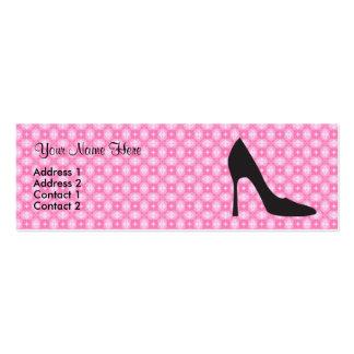 Little Black Heel Mini Business Card