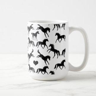Little Black Horses Coffee Mug