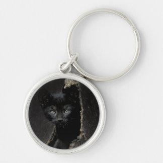 Little Black Kitty Keychain