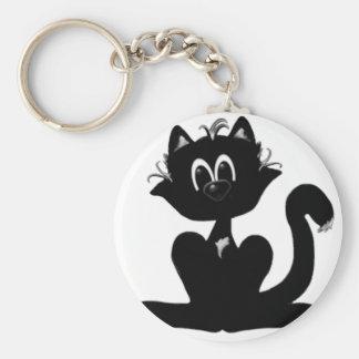 Little Black Kitty Key Chain